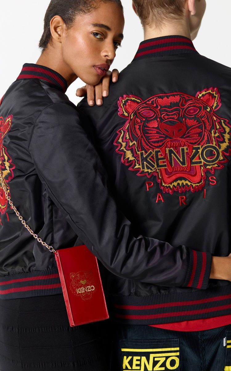 04ec64f09 BLACK 'Chinese NY Capsule Collection' Tiger Bomber Jacket for men KENZO