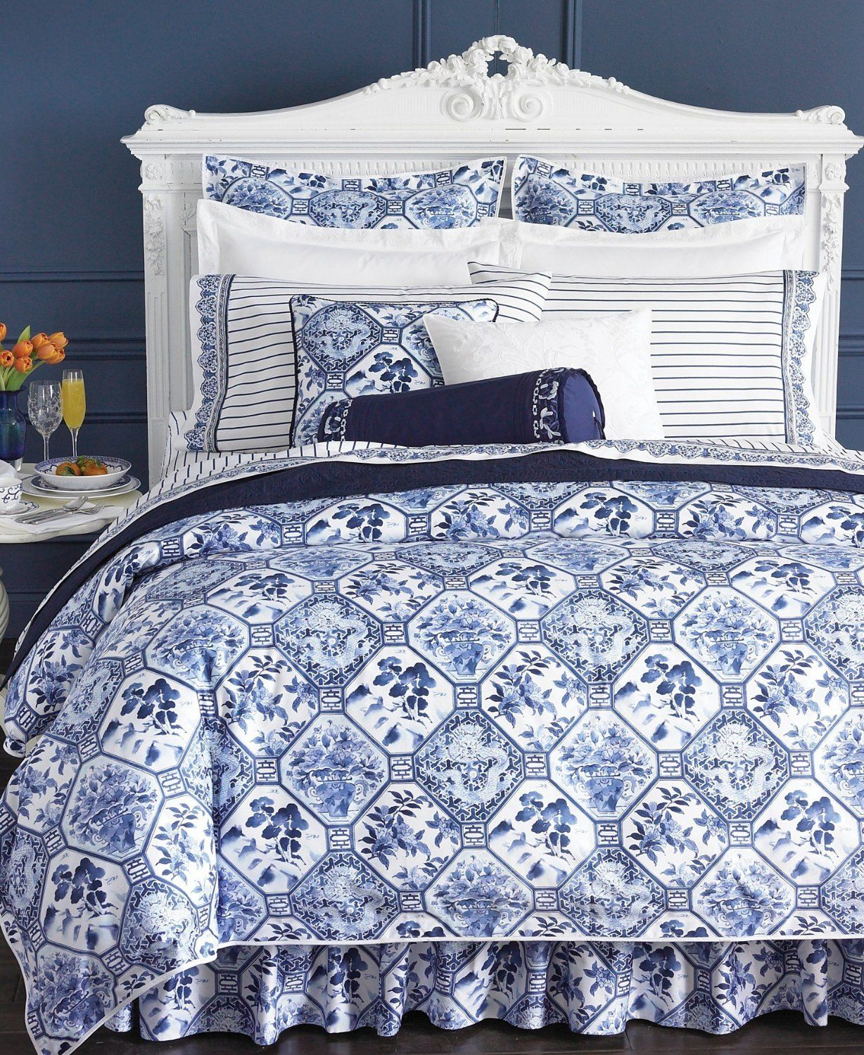 Blue and white toile bedding - Http Www Frenchcountryhomedecor Com Ralph Lauren Tamarind Porcelain Blue Comforter Set Queen French Country Home Decor Pinterest Ralph Lauren Blue