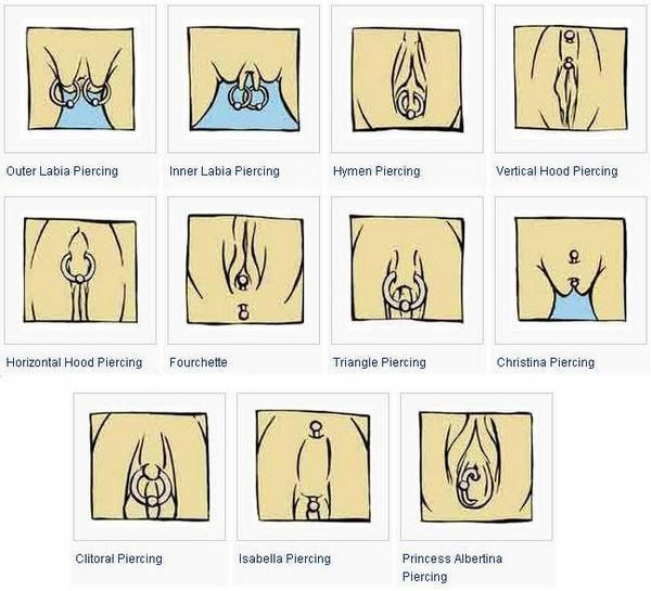 Types of clit piercings