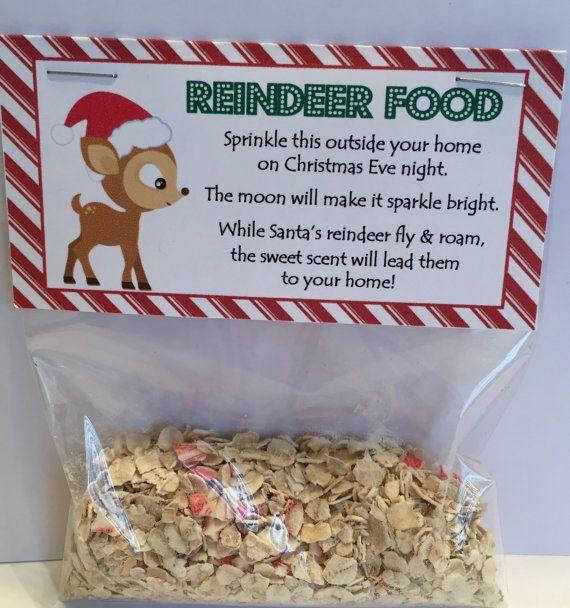 Reindeer Food Treat Bag Topper ( Fits 4x6 bags) Printable File - Instant Download - Reindeer Food Tag - Reindeer Food Favor - Reindeer Food #reindeerfoodrecipe