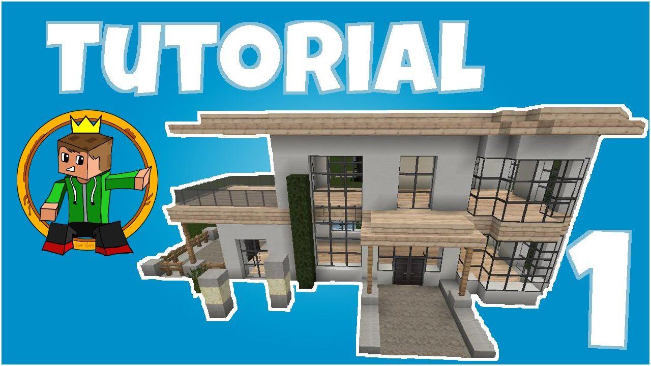 minecraft tutorial wie baue ich ein sch nes haus 3. Black Bedroom Furniture Sets. Home Design Ideas