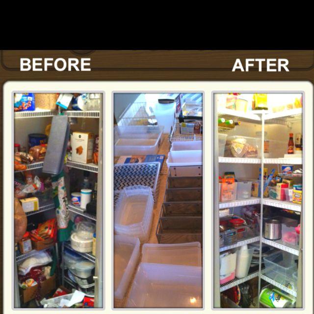 Organized Pantry And Pantry Tips: Organized Corner Pantry