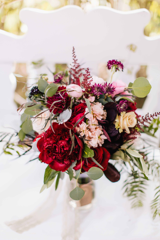 Baroque Autumn Wedding with Deep Wine Tones in North Carolina