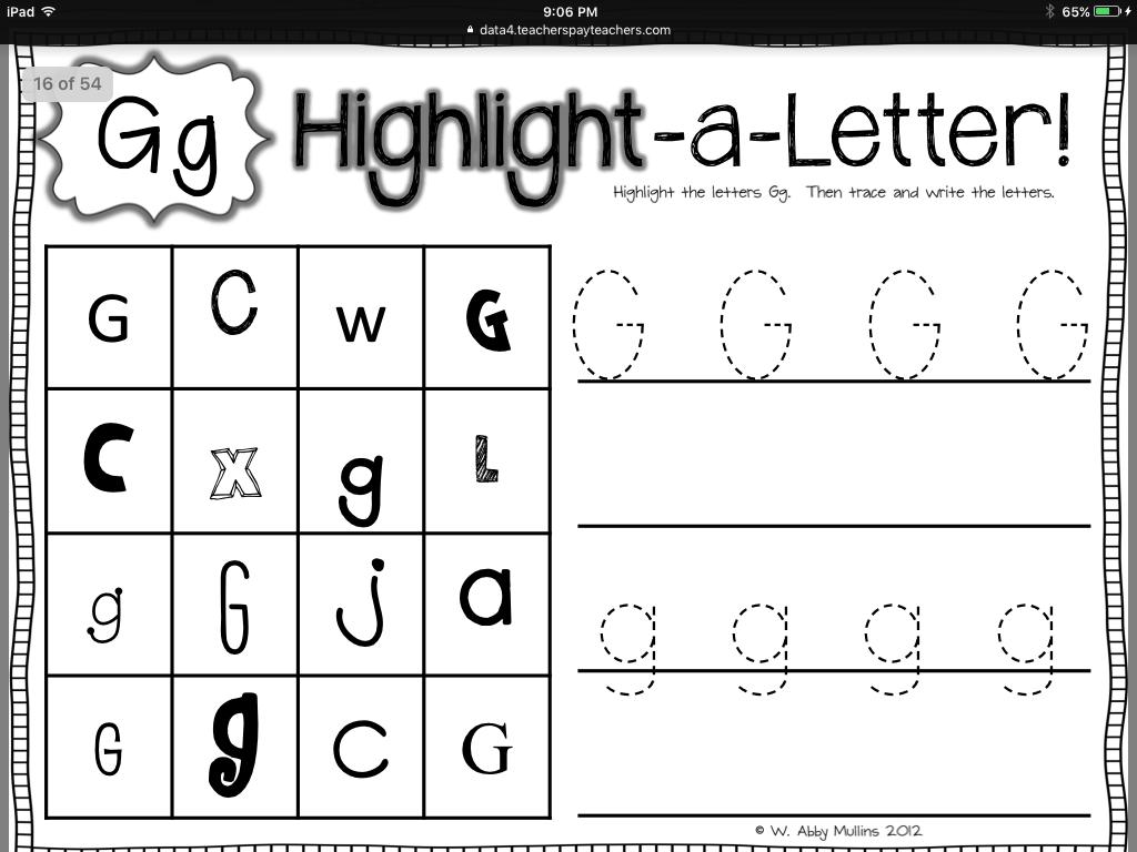 letter find letter g pinterest phonics letter activities and school. Black Bedroom Furniture Sets. Home Design Ideas
