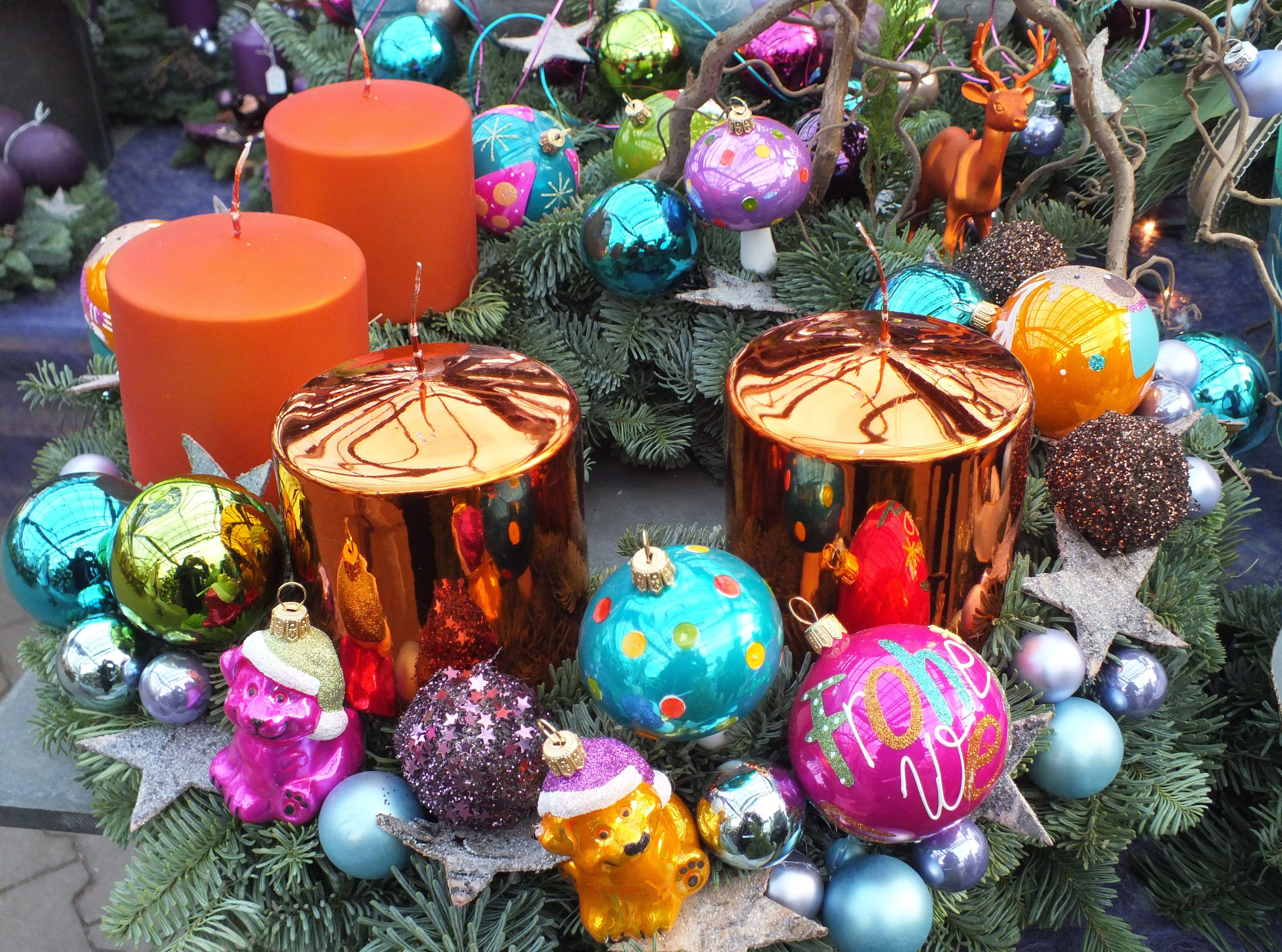 Bunte Deko, Weihnachten - Foto: S. Hopp