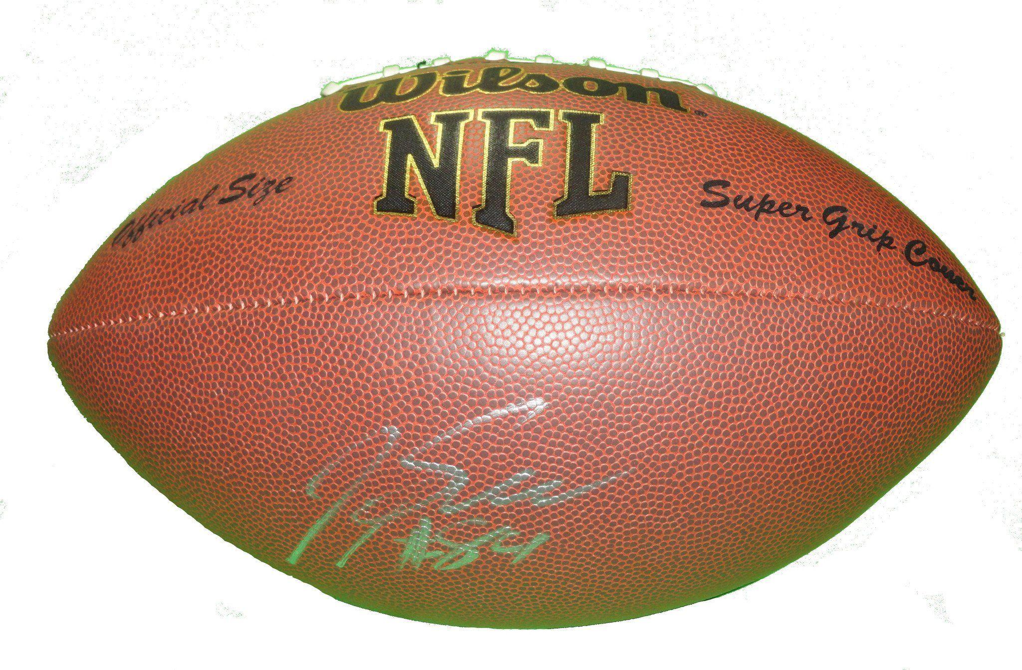 Jermaine gresham autographed nfl wilson composite football