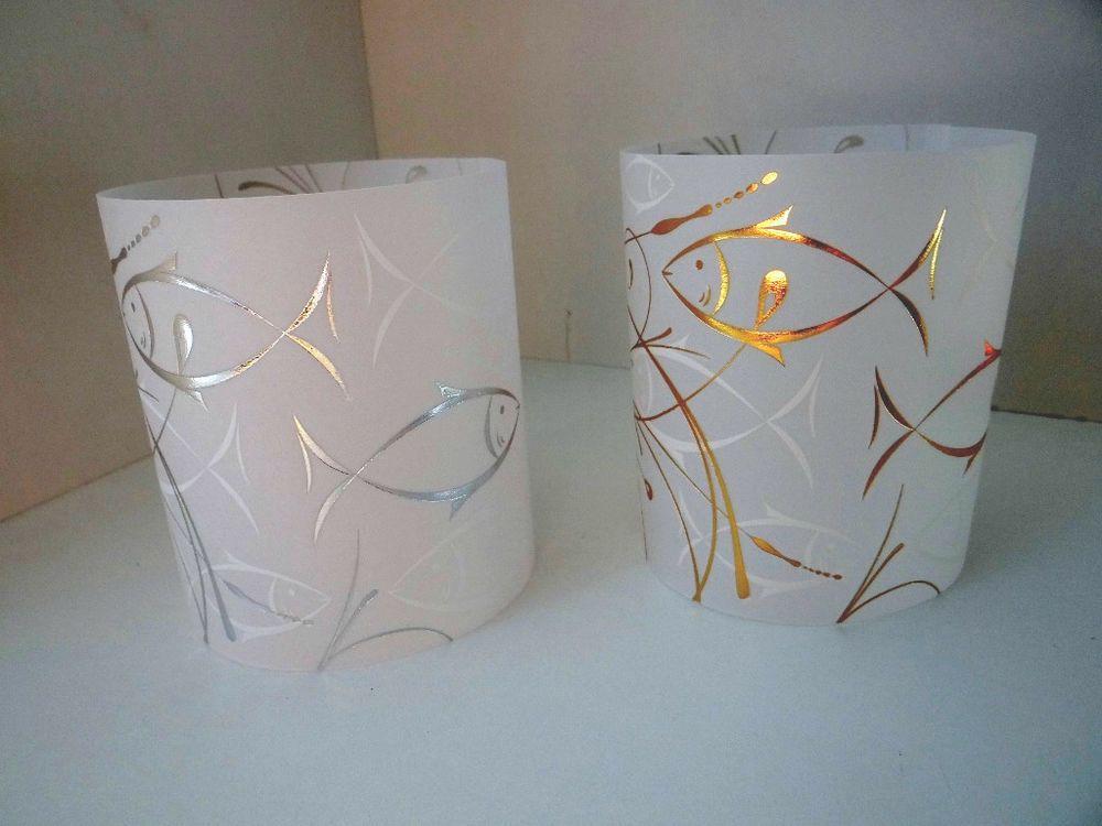 details zu 5 x windlichter deko tischdeko taufe kommunion konfirmation firmung gold silber. Black Bedroom Furniture Sets. Home Design Ideas