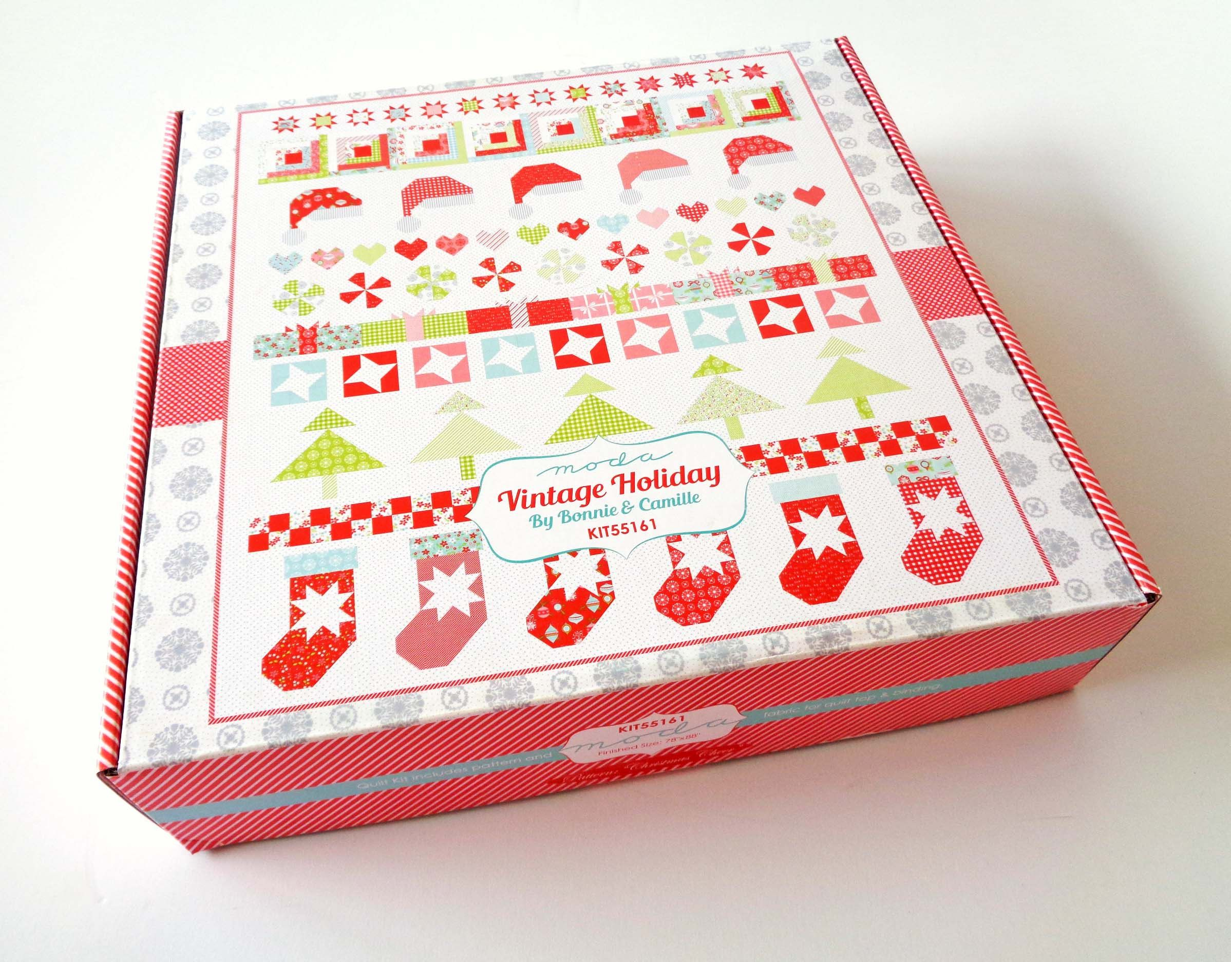 Quilt Pattern Moda Fabric By Bonnie Camille Vintage Holiday Christmas Quilt Kit Craft Supplies Tools Sewing Fiber