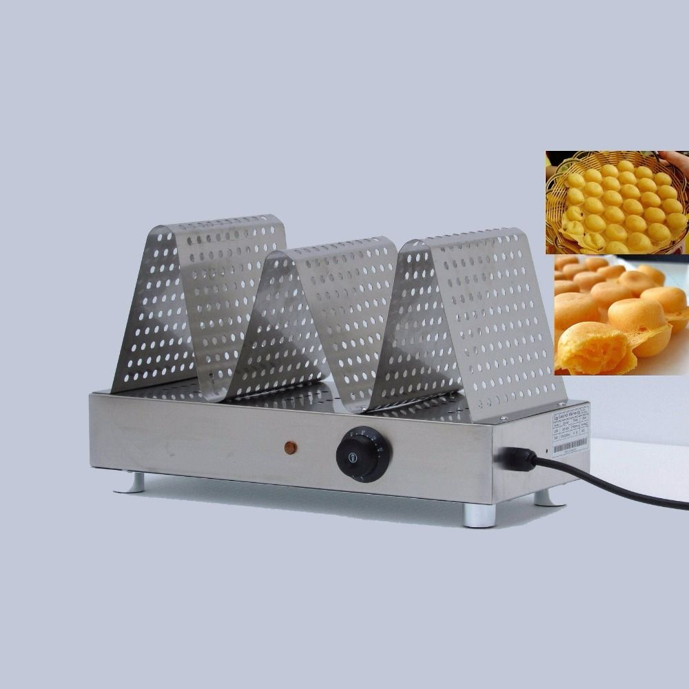 Commercial electric egg waffle warming displayereggettes