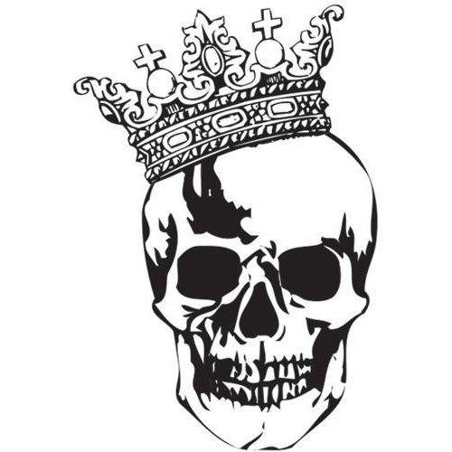 skull with crown tattoo stencil designs tats pinterest tattoos