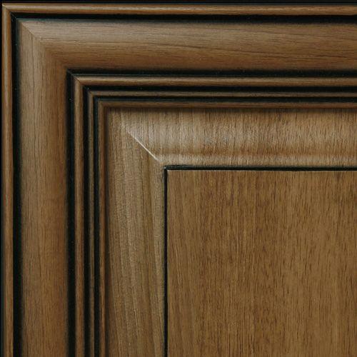 Black Glazed Kitchen Cabinets: Hazelnut With Black Glaze Kitchen