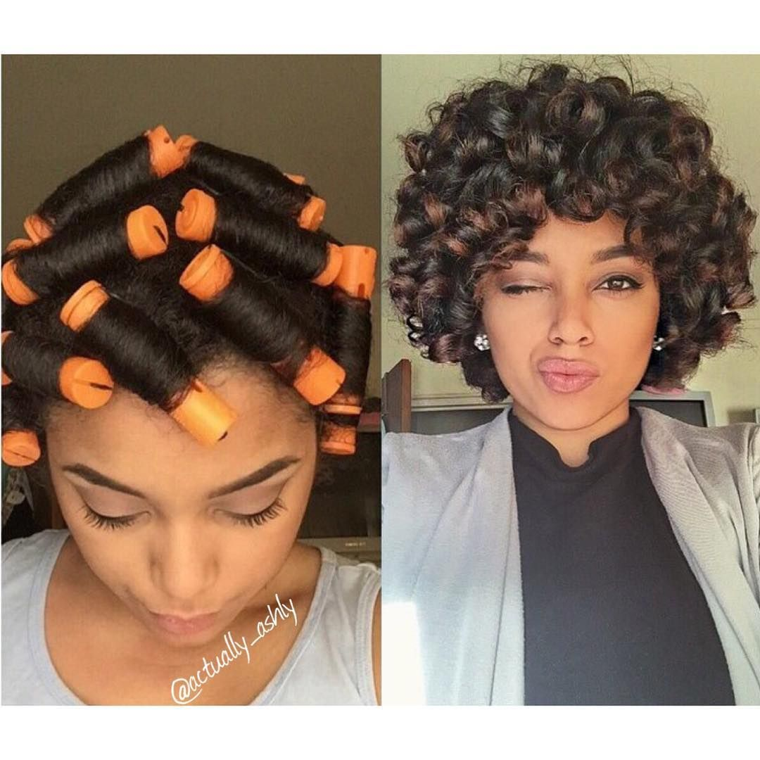 Straight perm for curly hair - I Think I May Revisit The Orange Perm Rods Soon Love The Big Bouncy Curls