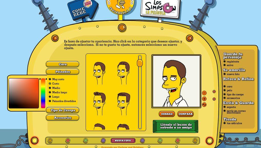 Simpsonizate Y Crea Tu Personaje De Los Simpsons Personajes De Los Simpsons Como Crear Un Personaje Como Crear Un Avatar
