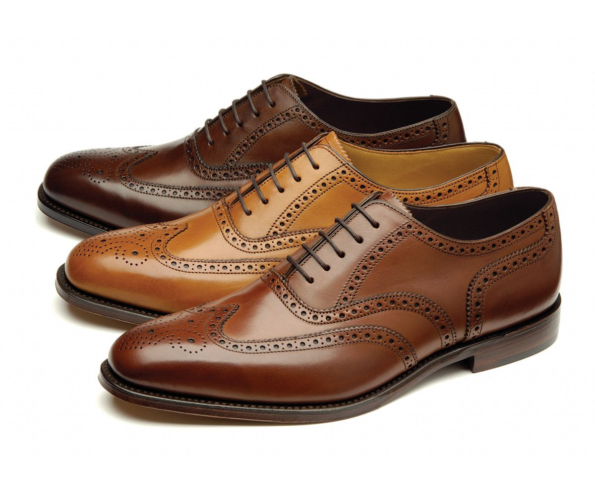 Loake's Premium brogue shoe, made in England. Mid priced English brogue from Northampton.
