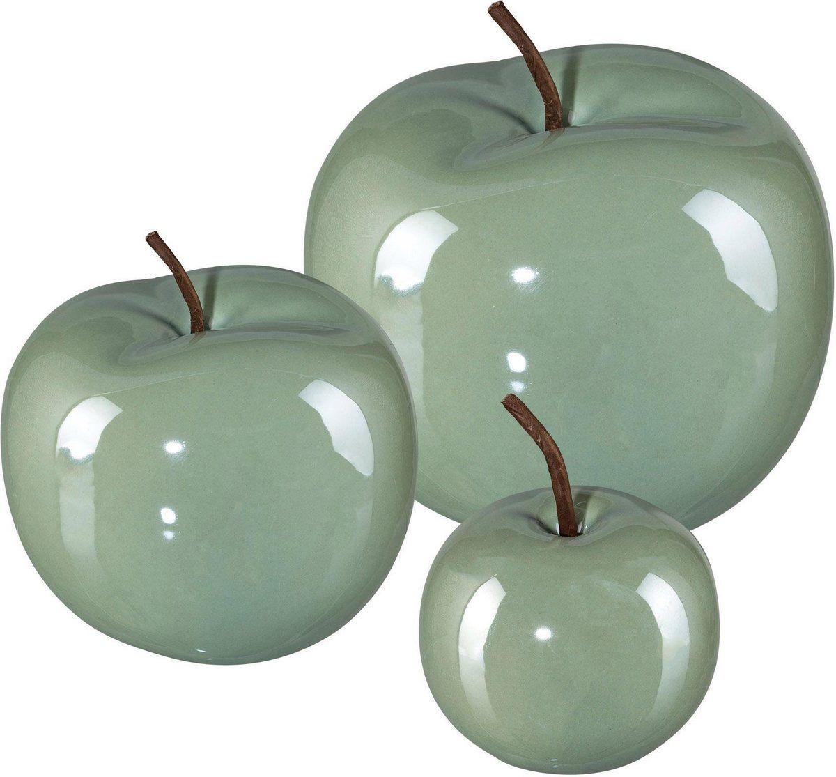 Dekoobjekt Apfel Pearl Efct Set 3 Stuck