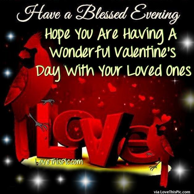 have a blessed evening happy valentines day image quote valentines, Ideas