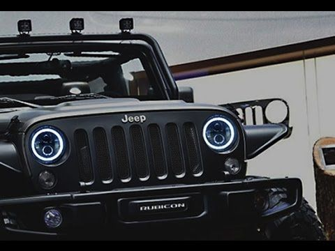 Ijdmtoy Jeep Wrangler Led Headlights With Switchback Halo Rings