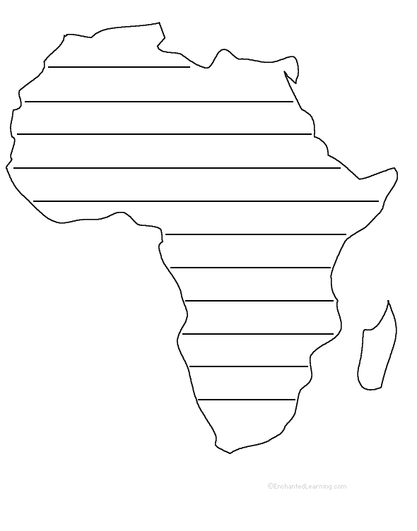 Africa shape poem plus other activities and worksheets – Africa Worksheets