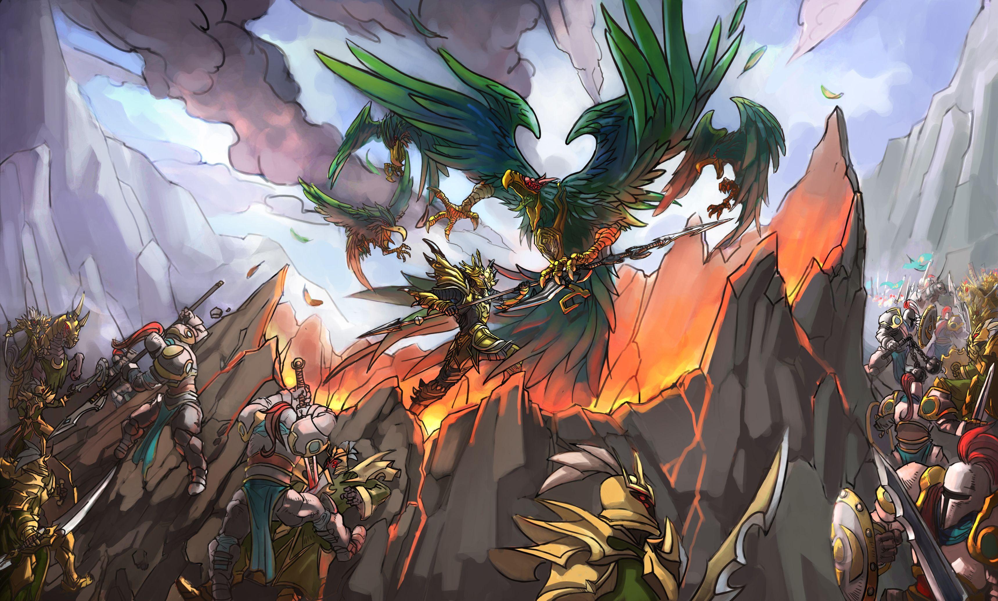J4 vs Swain. League of legends, Art, Abstract artwork
