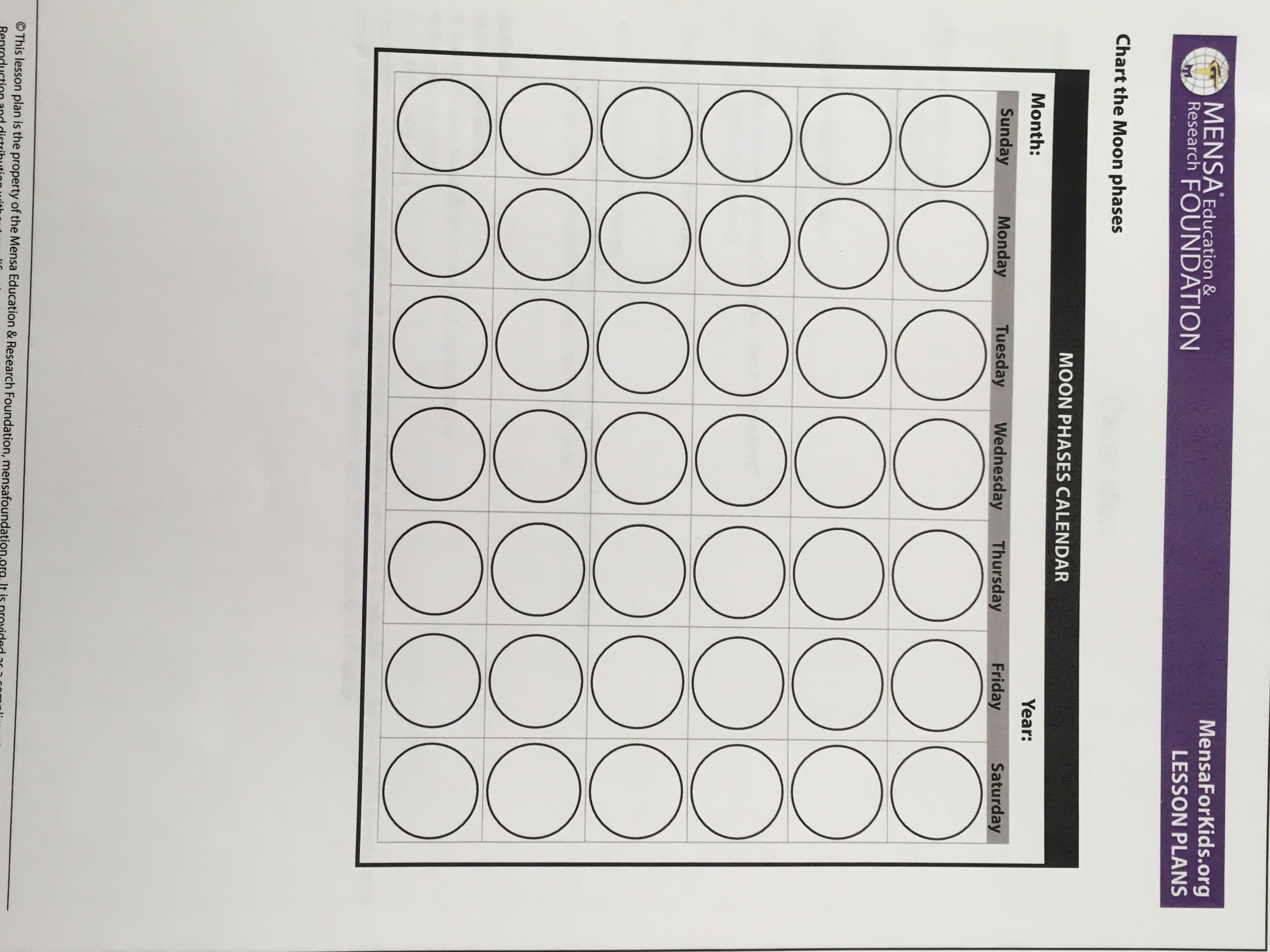 hight resolution of Moon Phases Lesson   Moon phase lessons