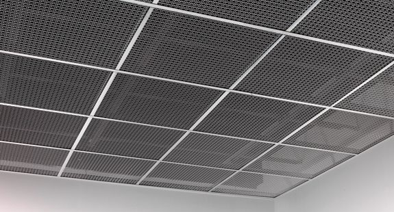 Concept For Ceiling Clouds Metal Mesh Suspended In