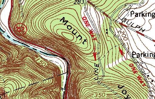 how to find contour lines on a topographic map