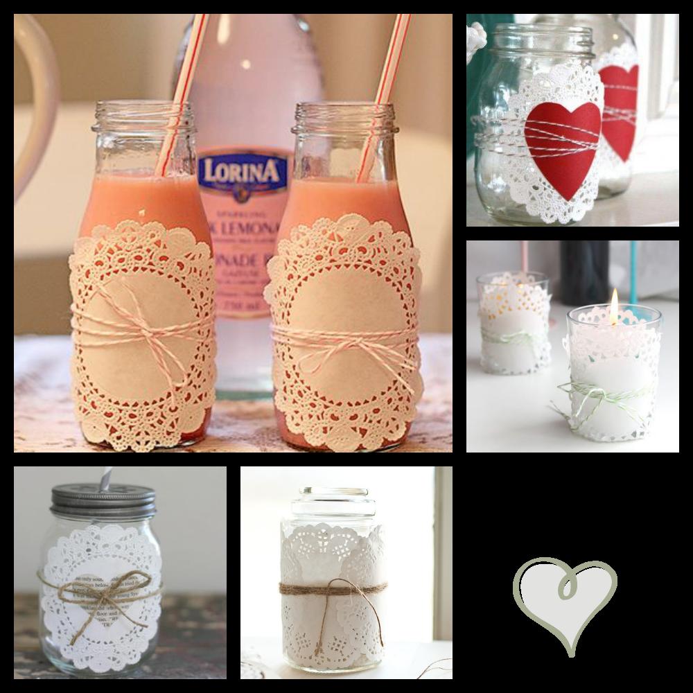 Las mejores ideas para decorar con blondas de papel - Papel para vidrios ...