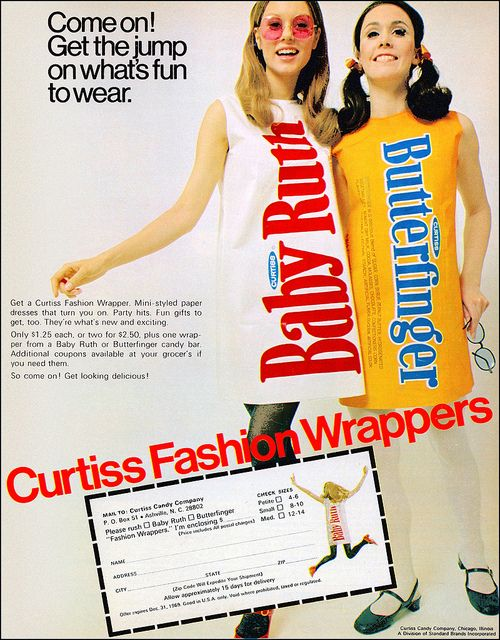 Curtiss Candy Bar Dresses, 1969 by MewDeep, via Flickr