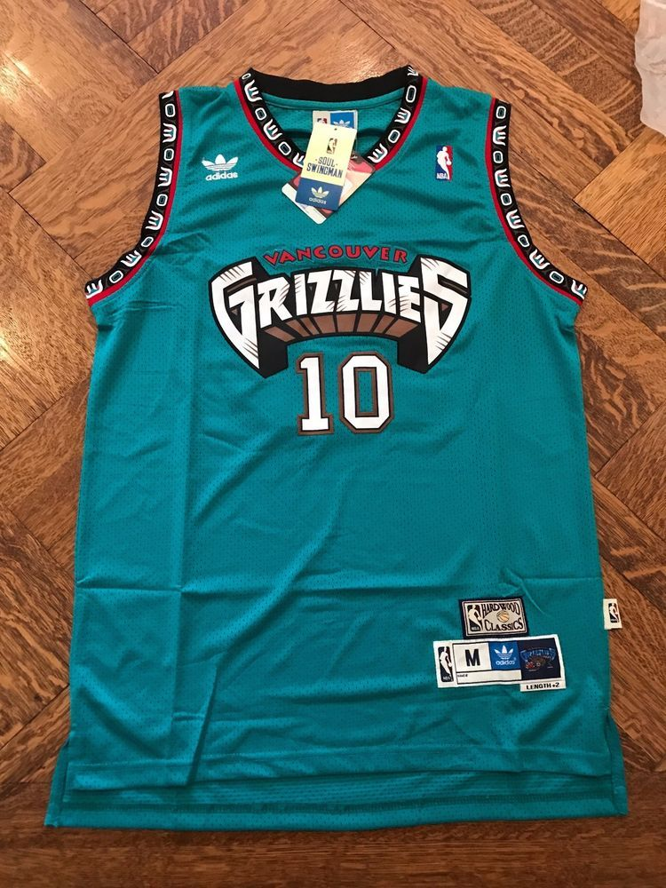 111fa5d4081 NWT Mike Bibby  10 Vancouver Grizzlies Throwback Basketball Jersey Green Men   VancouverGrizzlies
