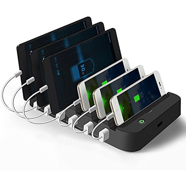 Charging station vantakool multiple usb charger station