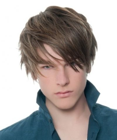 Messy Emo Style For Men With Fringe Wes Haircut