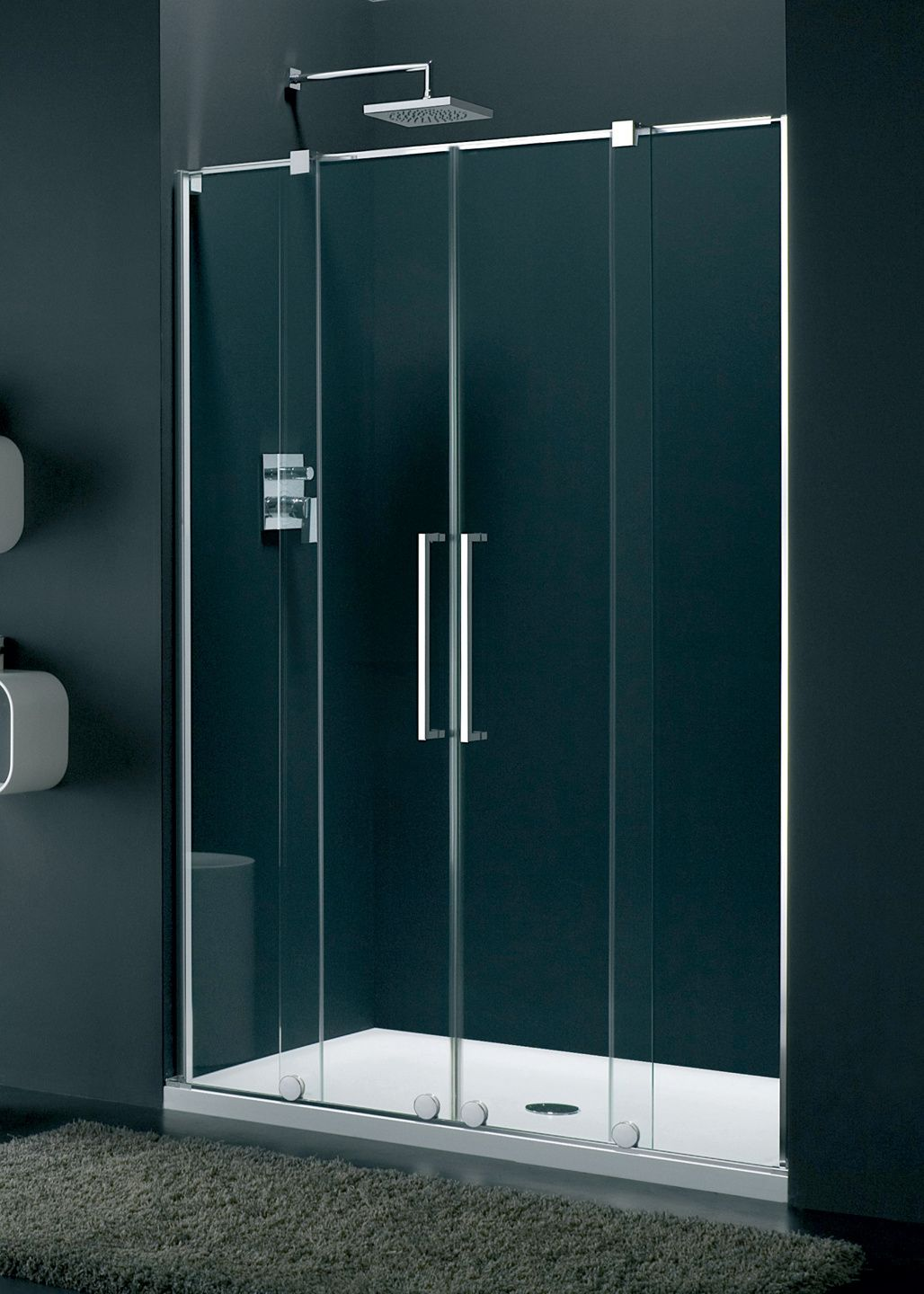 Genzano - Frameless Alcove Shower Enclosure | Shower enclosure ...