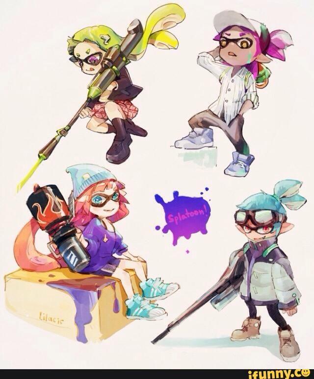 Splatoon Inkling Cute Cool Art Splatoon Anime Cartoon