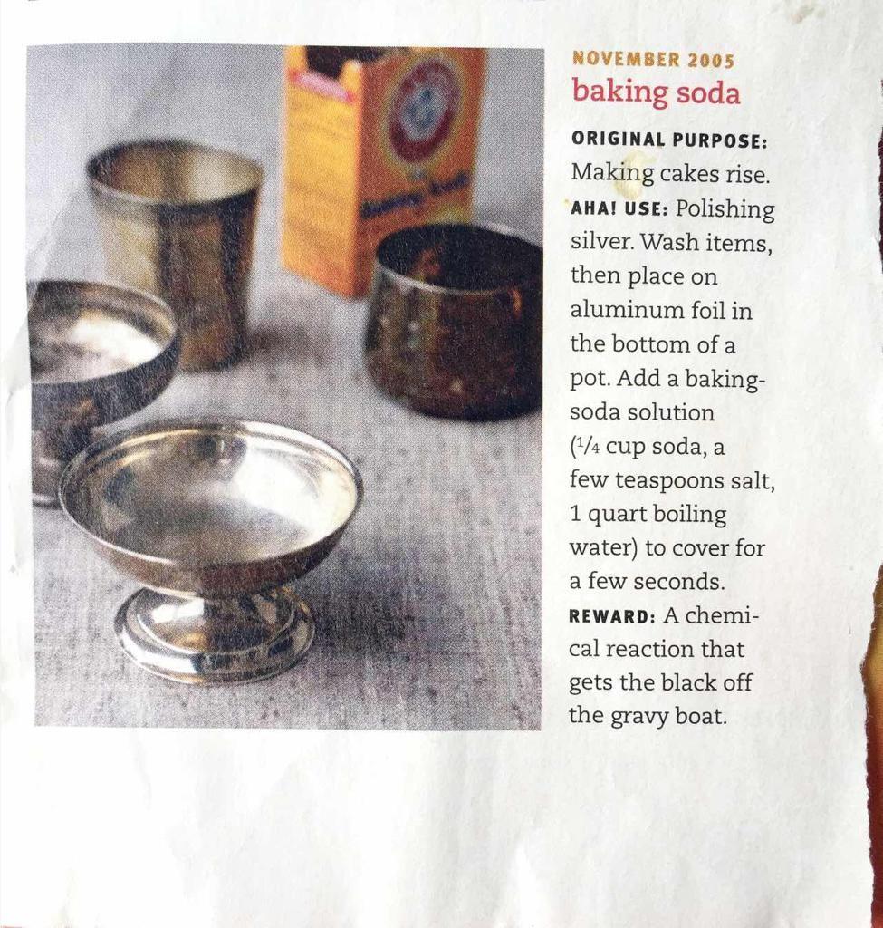 How to batch clean silver Baking soda, Polish silver