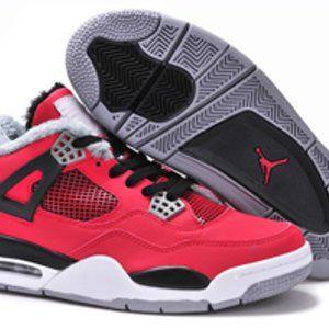 Air Jordan Shoes on Sale Nike Iv 4 Retro Mens New Fur Red