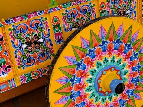 Colorful Wheel For Carriages, Costa Rica