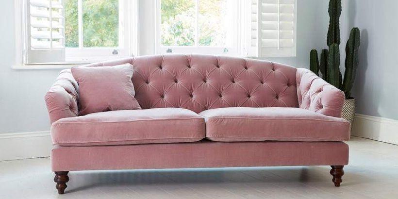 Bon Pink Velvet Sleeper Sofa