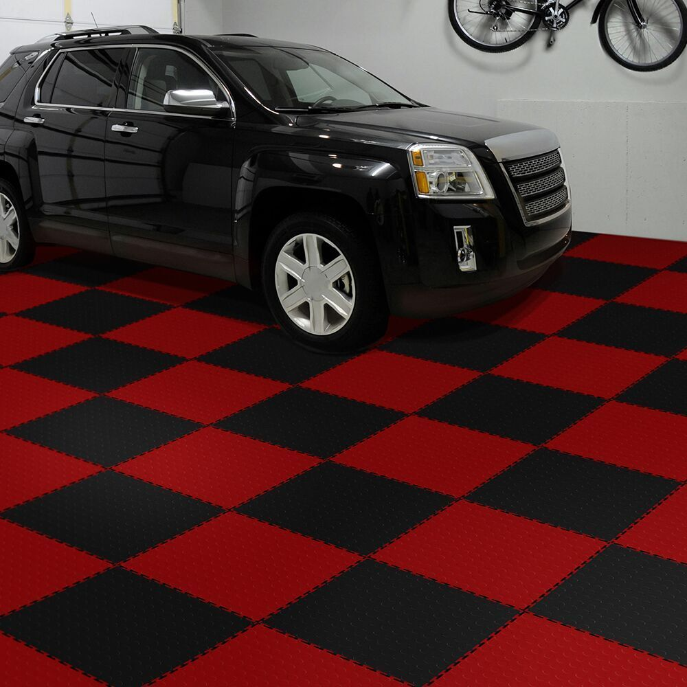 Flexible Interlocking Tiles Perfection Floor Tile Coin Pattern In