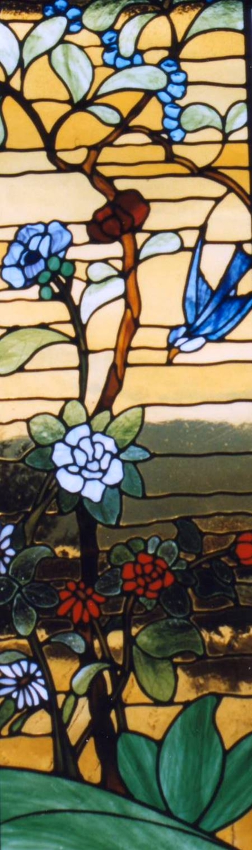 Handmade Chinese Garden Stained Glass Panel by LeBlanc Stained Glass Studio | CustomMade.com