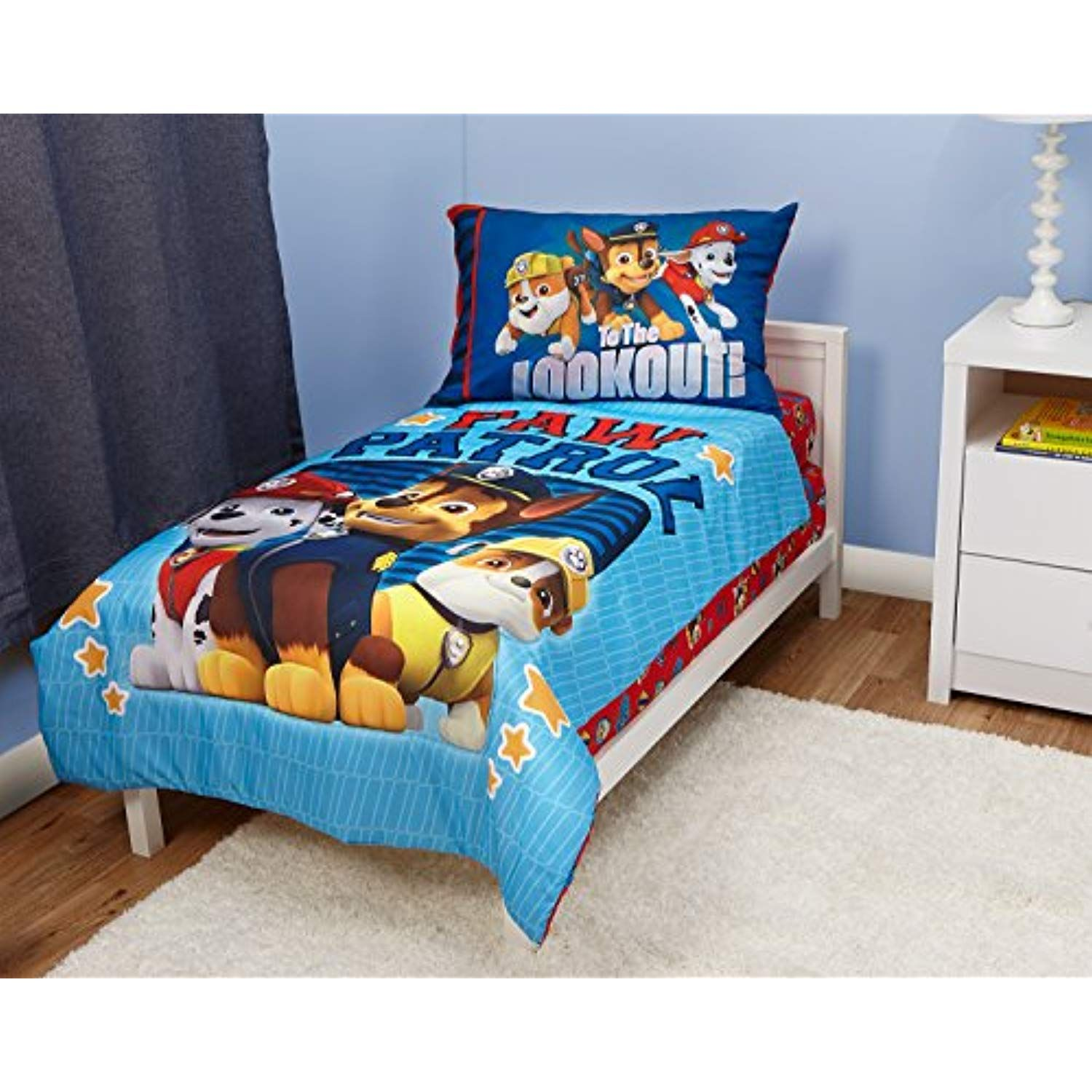 Paw Patrol Here To Help 4 Piece Toddler Bedding Set Check Out The Image By Visiting The Link Bedding Toddler Bed Set Toddler Bed Paw Patrol Bedroom Set