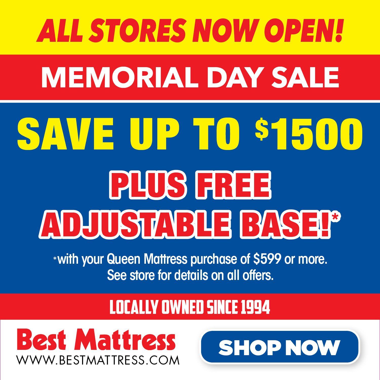 Memorial Day Sales Event Best Mattress Adjustable Base Memorial Day Sales