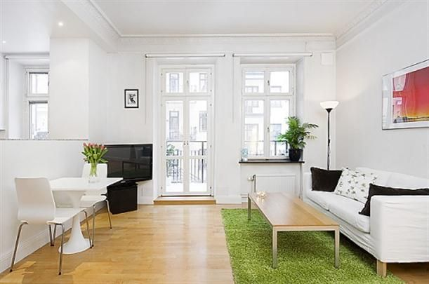Contemporary Swedish Small Apartment Interior Design Main Room