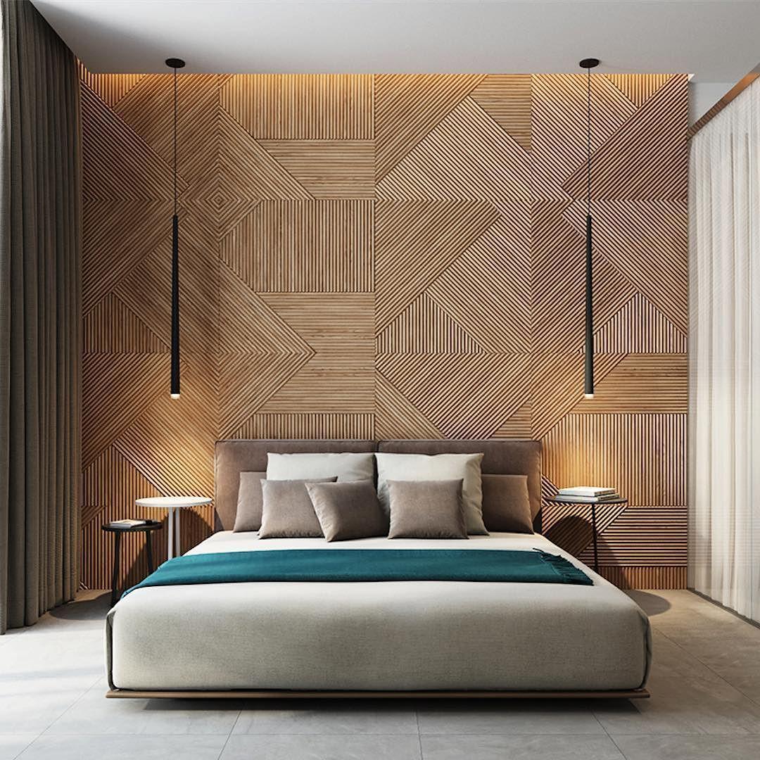 Bedroom Samples Interior Designs Home Interior Design — Apaixonada Por Este Painel Em Madeira Por