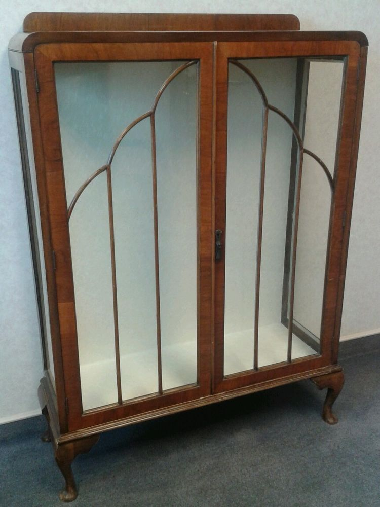 Lovely antique art deco cabinet 1920s 1930s 1940s glass for Deco 90 fut 18