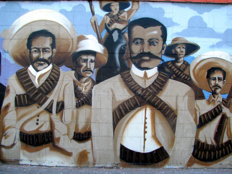Pin by florencio zavala on villa zapata la revolution for Emiliano zapata mural