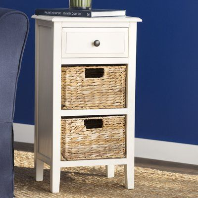 Breakwater Bay Small Point End Table Color Off White Storage