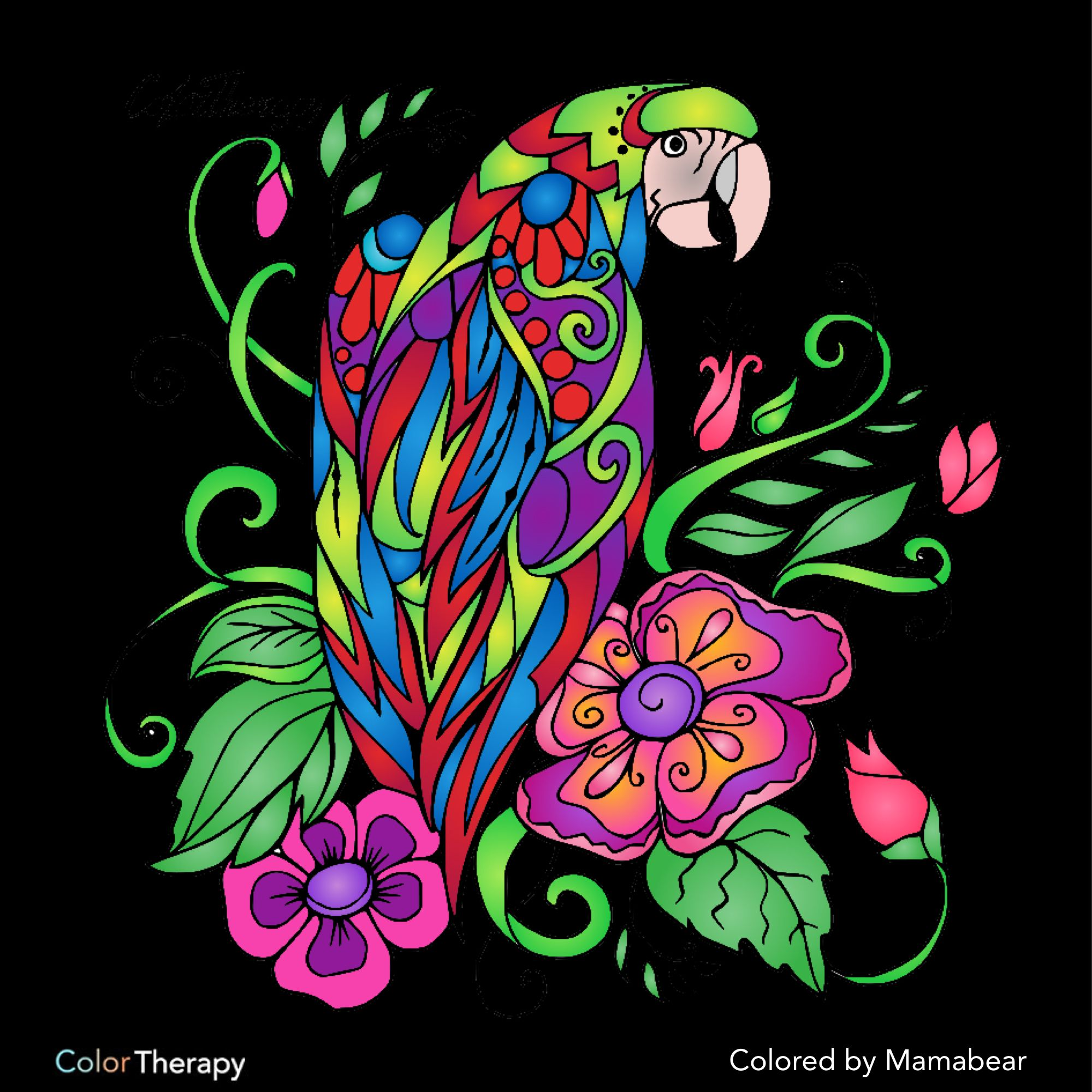 Color therapy anti stress coloring book app - I Colored This Myself Using Color Therapy App It Was So Fun And Relaxing