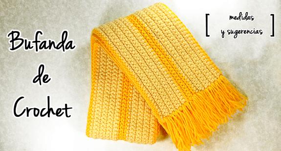 Básicos para tejer una bufanda a crochet | Bufandas de crochet ...