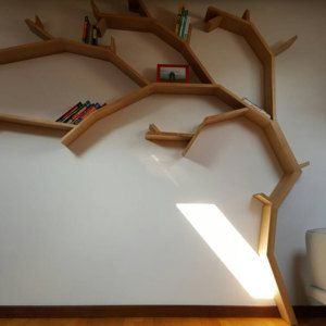 The Windswept Oak Tree Shelf Unit