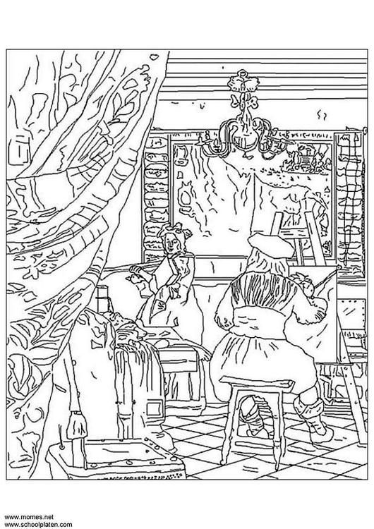 Vermeer - lots and lots of coloring pages - many, many ...